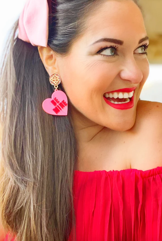BE MINE CONVERSATION HEART EARRING