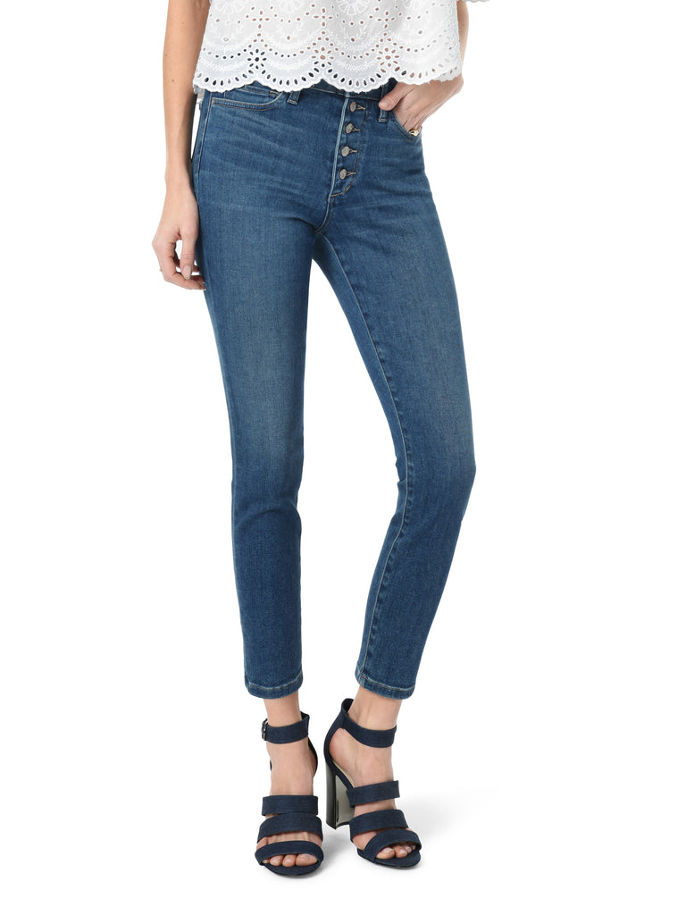 CHARLIE CROP HIGH RISE SKINNY CROP EXPOSED BUTTONFLY NESSA