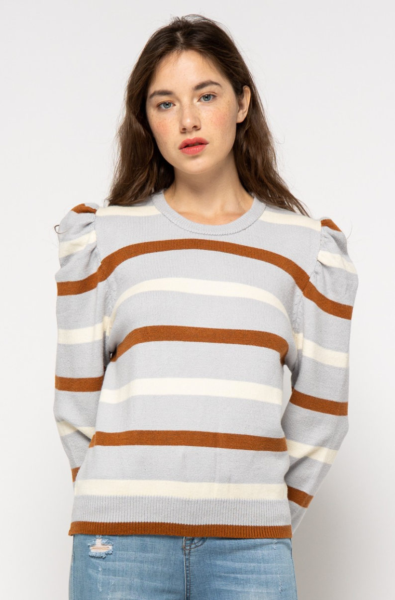 DARLING STRIPE SWEATER