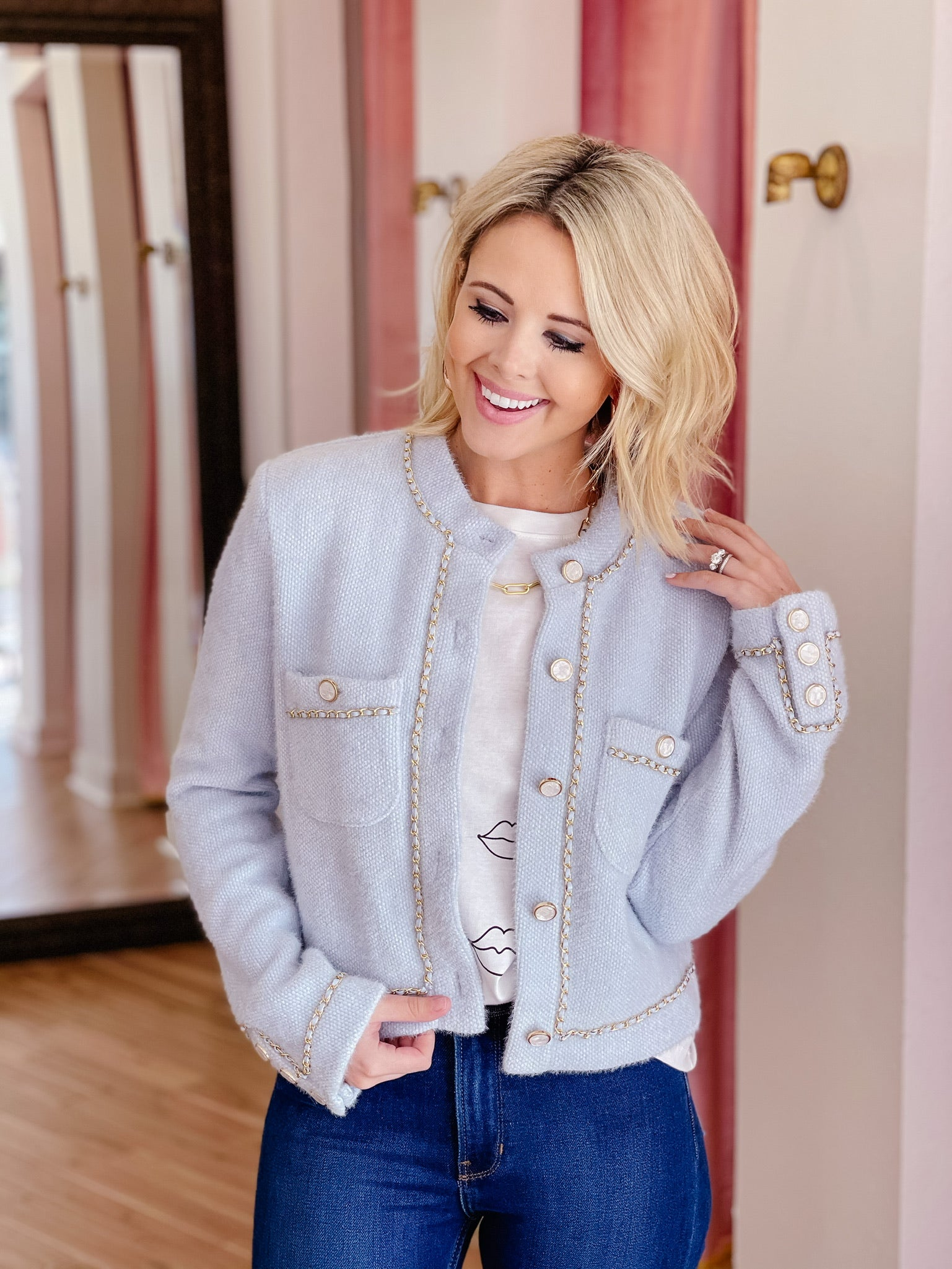 ELSA ICE BLUE CARDIGAN