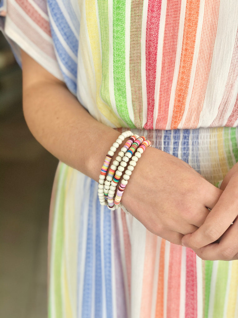 BEADS OF RAINBOW WRAP BRACELET