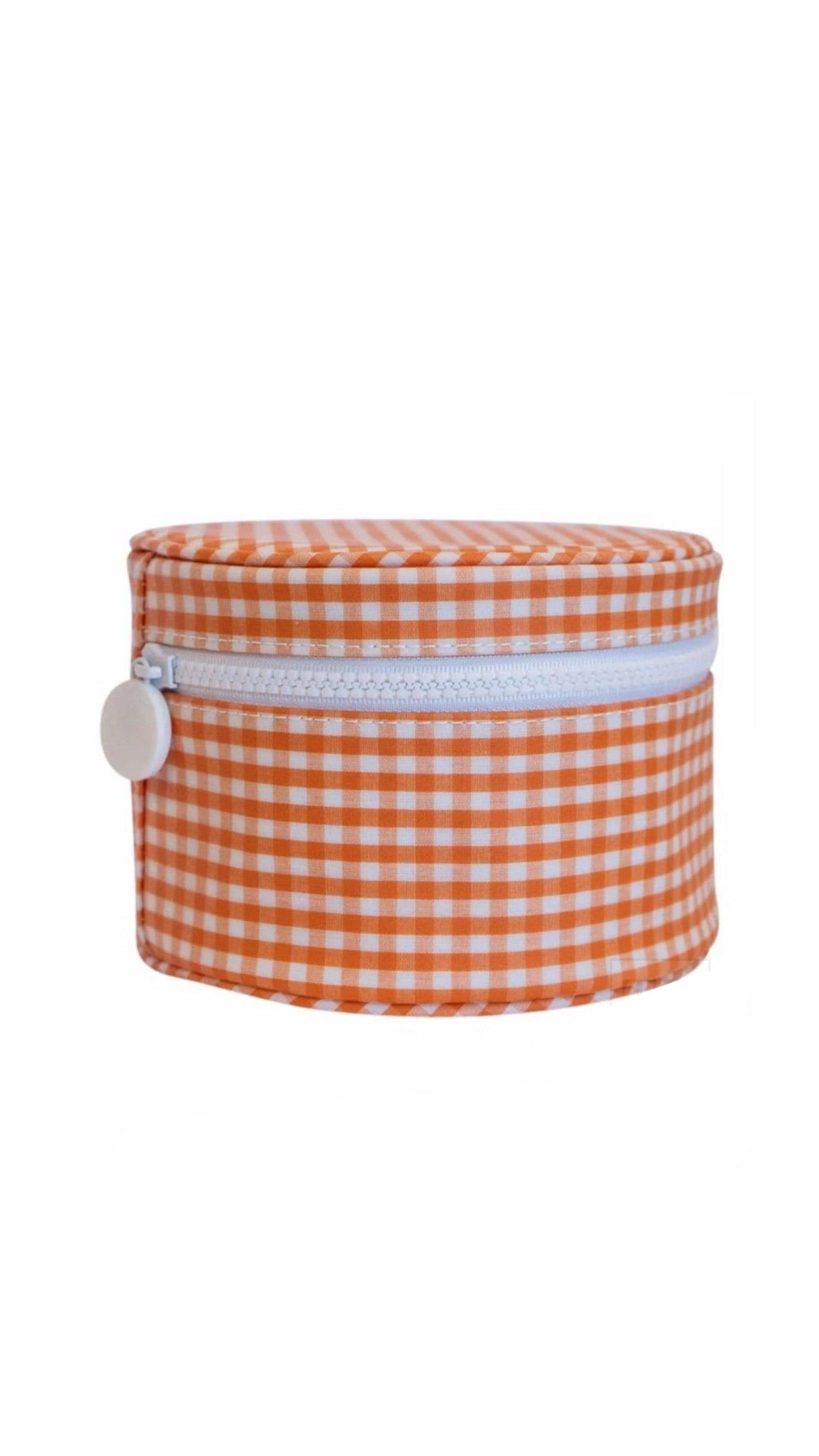 ROUNDUP GINGHAM ZIP TOP