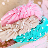 SPRING PEARL TOP KNOT HEADBANDS