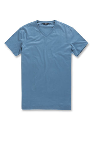 Premium V-Neck T-Shirt (Slate Blue)