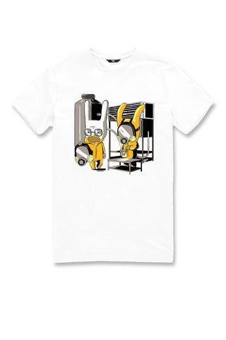 Breaking Bunny Graphic T-Shirt (White)