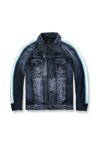 Jordan Craig - Kids Grand Prix Striped Denim Jacket (Midnight Carnival)