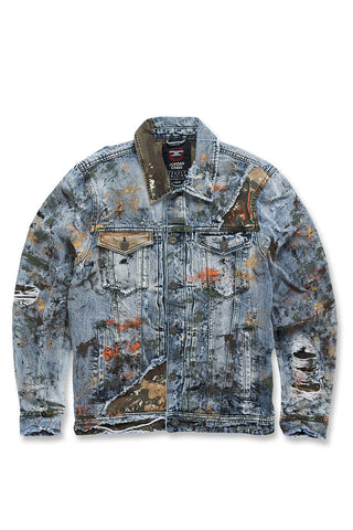 Freedom Camouflage Denim Jacket (Woodland)