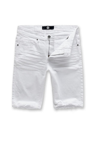 Jordan Craig - Big Men's Newcastle Twill Shorts (White)