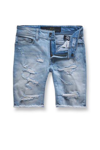 Jordan Craig - Kids Seaside Denim Shorts (Ice Blue)