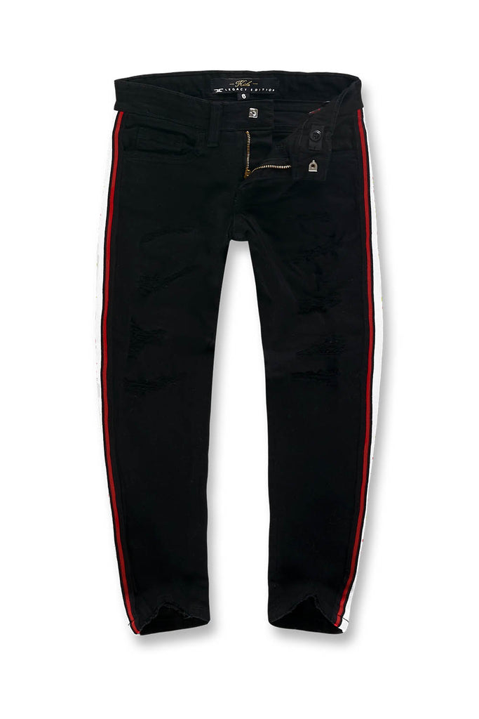 Jordan Craig - Kids Grand Prix Striped Denim (Jet Black)