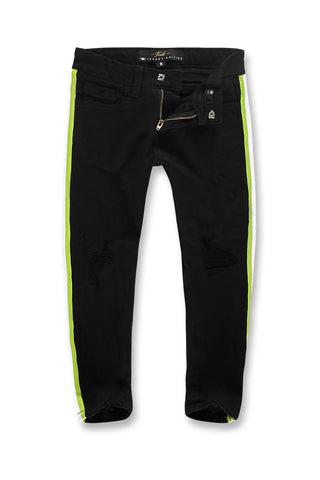 Jordan Craig - Kids Grand Prix Striped Denim (Black Volt)