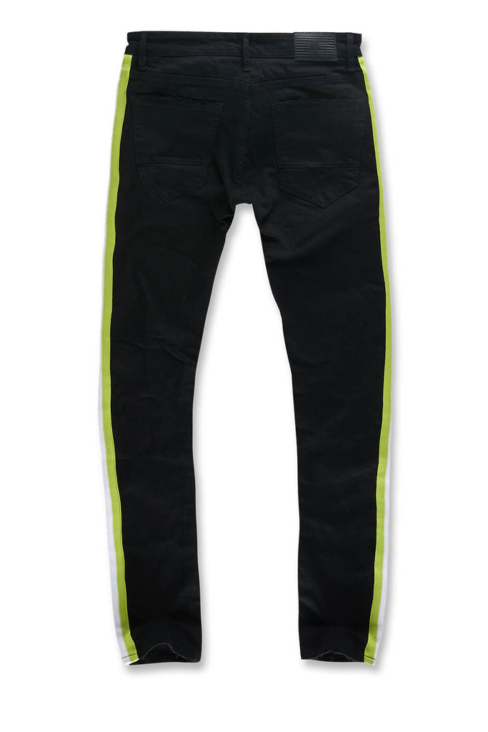 Jordan Craig - Big Men's Grand Prix Striped Denim (Black Volt)