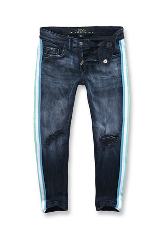 Jordan Craig - Kids Grand Prix Striped Denim (Midnight Carnival)