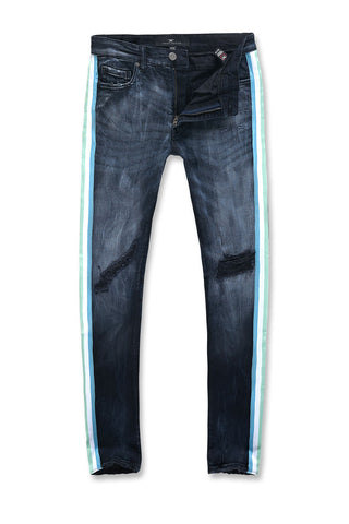 Jordan Craig - Sean - Grand Prix Striped Denim (Midnight Carnival)
