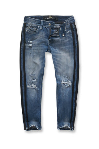Jordan Craig - Kids Rutherford Striped Denim (Aged Wash)