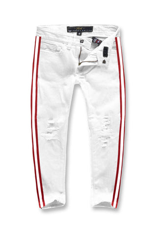 Jordan Craig - Kids F1 Striped Denim (White)