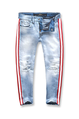 Jordan Craig - Kids F1 Striped Denim (Ice Blue)