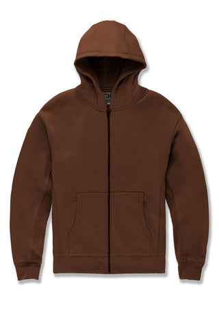 JCA Zip Up Hoodie (Dark Earth)