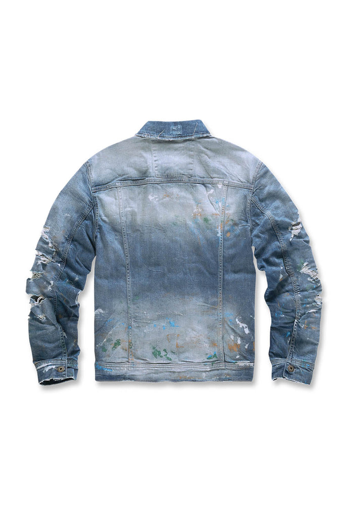 Jordan Craig - Parisian Denim Trucker Jacket (Monet)