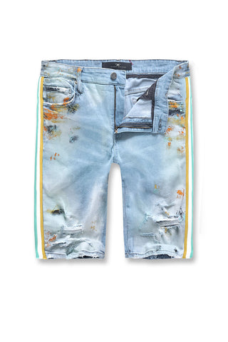 Talladega Denim Shorts (Iced Neon)