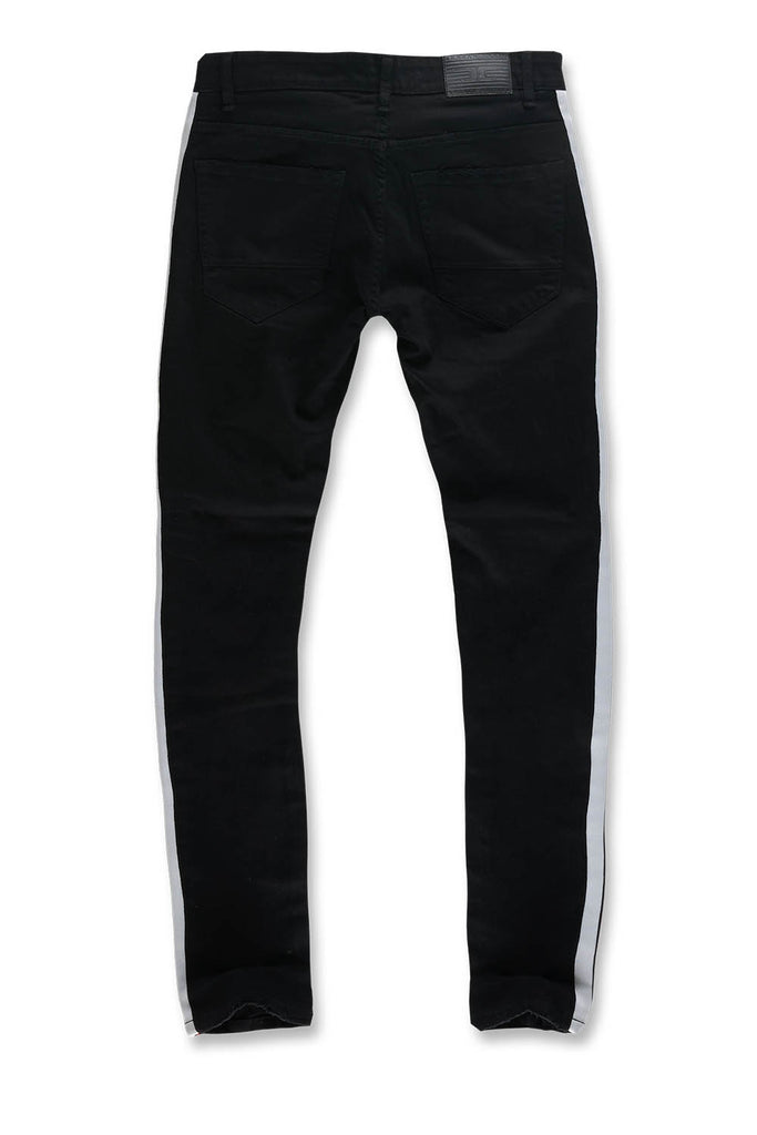Jordan Craig - Sean - Grand Prix Striped Denim (Jet Black)