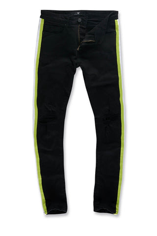 Jordan Craig - Sean - Grand Prix Striped Denim (Black Volt)