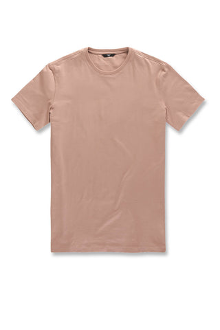 Premium Crewneck T-Shirt (Dusty Rose)