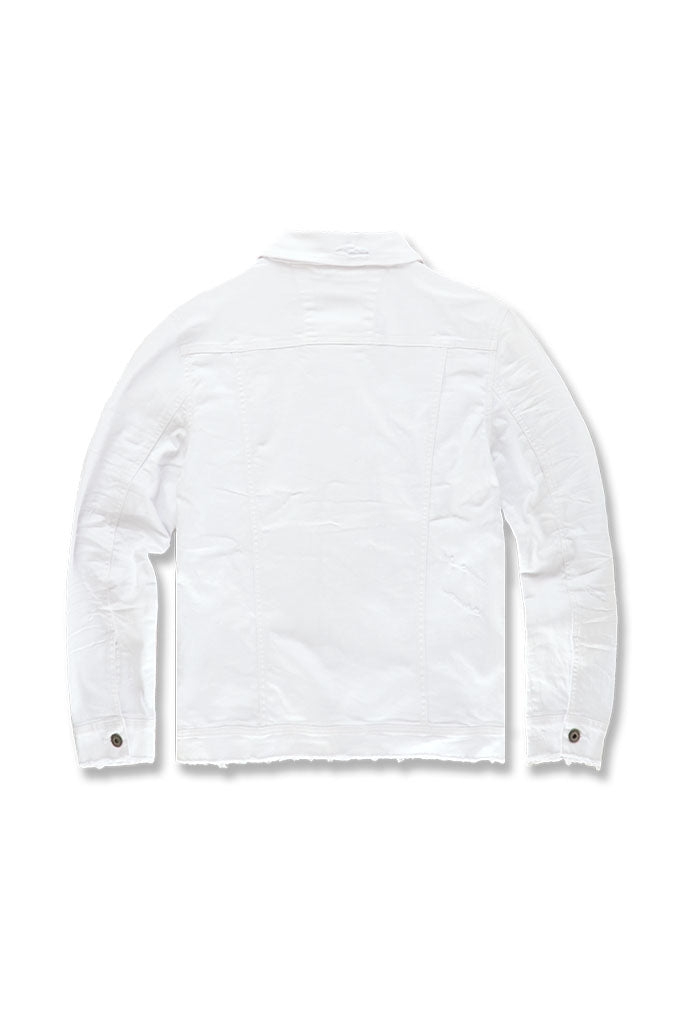 Tribeca Twill Trucker Jacket (White)