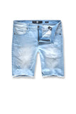 Cutoff Denim Shorts (Ice Blue)