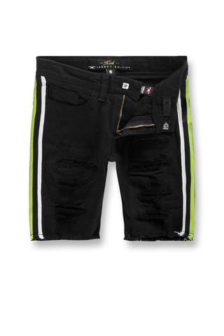 Jordan Craig - Kids Daytona Striped Denim Shorts (Volt)