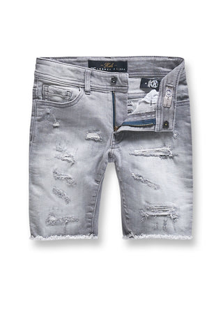 Jordan Craig - Kids Seaside Denim Shorts (Cement Wash)