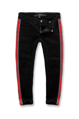 Jordan Craig - Kids F1 Striped Denim (Jet Black)