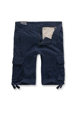 Jordan Craig - Big Men's Bedrock Cargo Shorts (Navy)