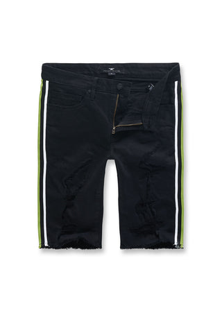 Jordan Craig - Big Men's Daytona Striped Shorts (Volt)