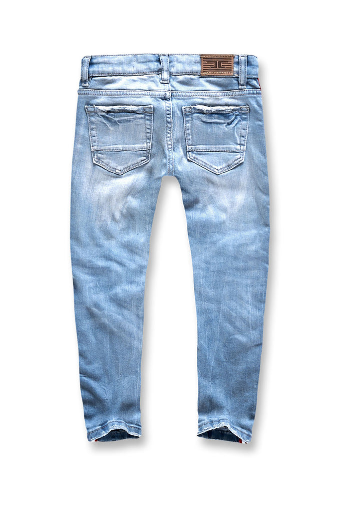 Jordan Craig - Kids Grand Prix Striped Denim (Ice Blue)