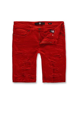 Jordan Craig - Big Men's Ortley Twill Shorts (Red)
