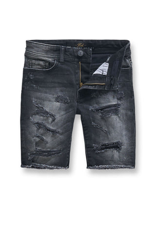 Jordan Craig - Kids Seaside Denim Shorts (Black Shadow)