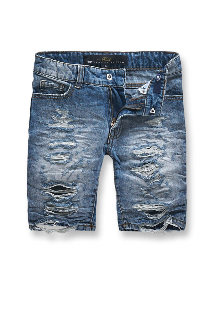 Jordan Craig - Kids Justice Denim Shorts 2.0 (Medium Blue)