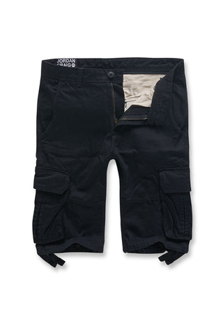 Jordan Craig - Big Men's Bedrock Cargo Shorts (Black)