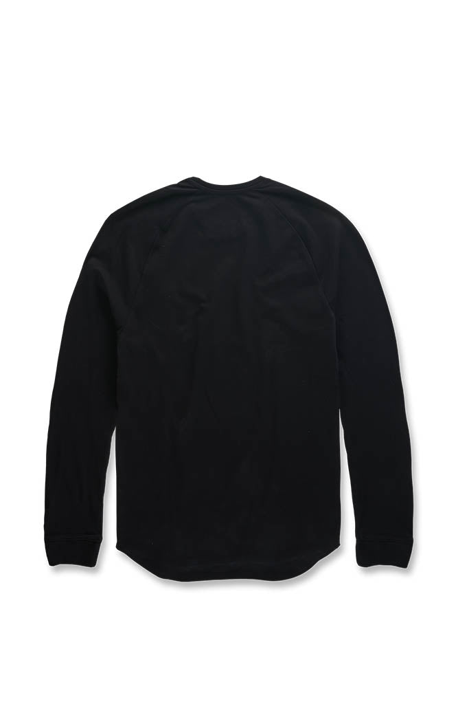 Bushwick Raglan Top (Black)