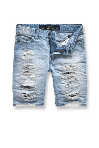 Jordan Craig - Kids Justice Denim Shorts 2.0 (Ice Blue)
