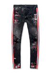Jordan Craig - Sean - Talladega Striped Denim (Black Shadow)