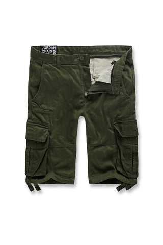 Jordan Craig - Big Men's Bedrock Cargo Shorts (Army Green)