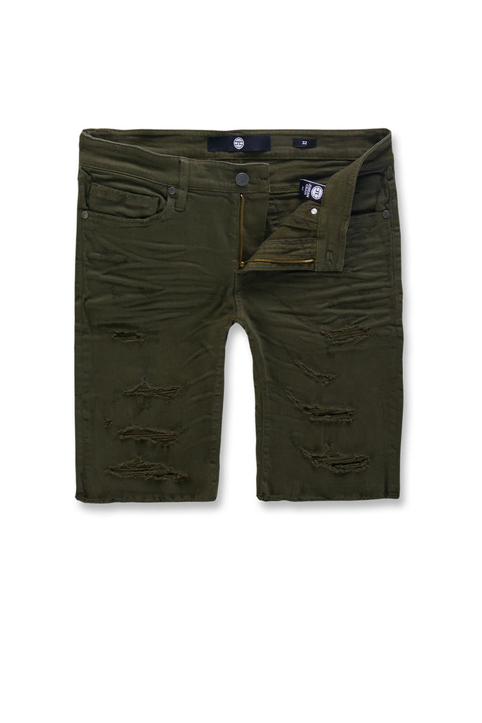 Jordan Craig - Big Men's Ortley Twill Shorts (Army Green)