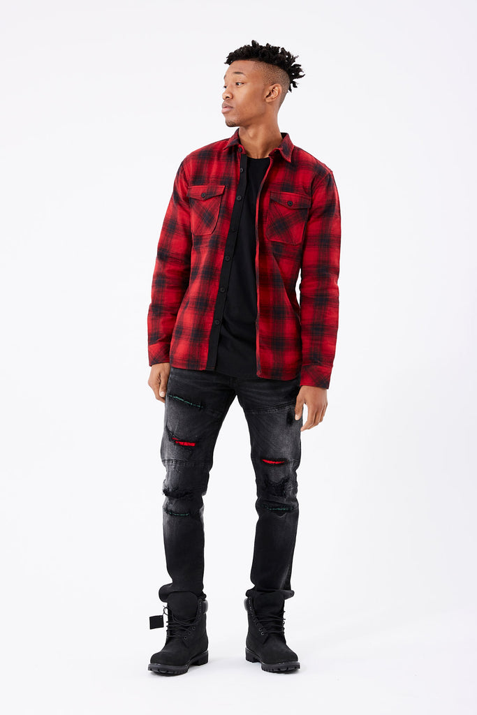 Jordan Craig - Tacoma Flannel Shirt (Red)