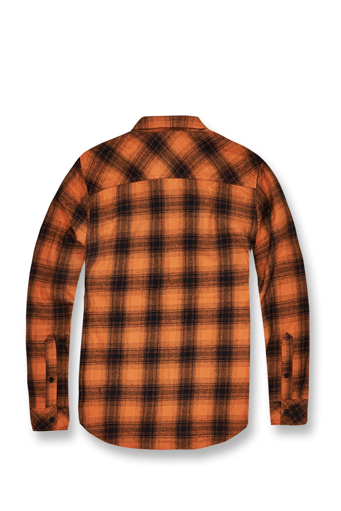 Jordan Craig - Tacoma Flannel Shirt (Burnt Orange)