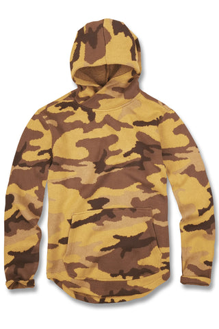 Knit Camo Pullover Hoodie