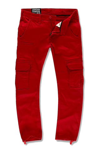 Xavier - Casual Cargo Pants 2.0 (Red)