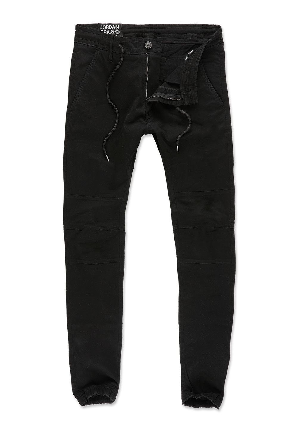Sean - Stacked Chino Joggers (Black)
