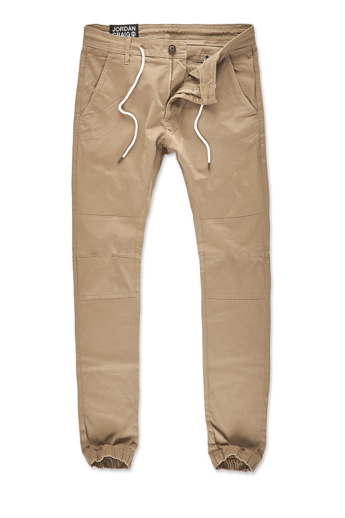 Sean - Stacked Chino Joggers (Khaki)